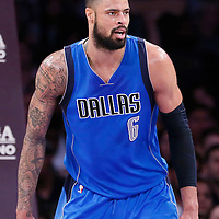 12 April 2014: Dallas Mavericks center Tyson Chandler (6) is seen on the defense during the Dallas Mavericks 120-106 victory over the Los Angeles Lakers, at the Staples Center, Los Angeles, California, USA.