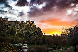 Edinburgh sunset tonight.