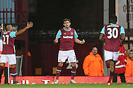 Nikica Jelavic of West Ham United © celebrates after scoring his sides 1st goal to make it 1-0 .The Emirates FA cup, 3rd round match, West Ham Utd v Wolverhampton Wanderers at the Boleyn Ground, Upton Park  in London on Saturday 9th January 2016.<br /> pic by John Patrick Fletcher, Andrew Orchard sports photography.