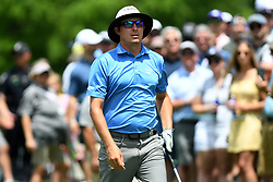 May 4, 2019 - Charlotte, NC, U.S. - CHARLOTTE, NC - MAY 04: Joel Dehmen prepares to tee off for round three of the Wells Fargo Championship on May 04, 2019 at Quail Hollow Club in Charlotte,NC. (Photo by Dannie Walls/Icon Sportswire) (Credit Image: © Dannie Walls/Icon SMI via ZUMA Press)