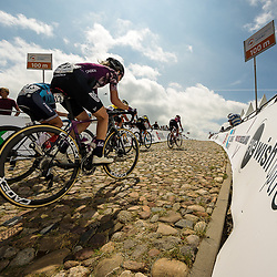 WIJSTER (NED) June 19: <br /> CYCLING <br /> Dutch Nationals Road WOMEN up and around the Col du VAM<br /> (12) Sabrina Stultiens tries to follow on the stone climb