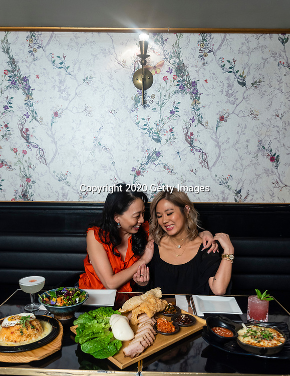 NEW YORK- JANUARY 09:  Chef's Judy Joo and Esther Choi pose for a portrait at My Soo on January 9th, 2020 in New York City. (Photo by Kris Connor/Getty Images for OK! Magazine)