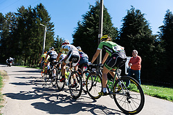 The breakaway - Flèche Wallonne Femmes - a 137km road race from starting and finishing in Huy on April 20, 2016 in Liege, Belgium.