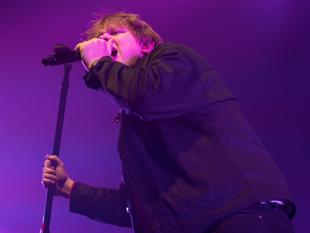 Glasgow, Scotland, UK 7th December 2019, Scotlands favourite son - singer, songwriter Lewis Capaldi delights his home audience at a sold out O2 Academy