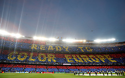 Barcelona fans show their support in the stands