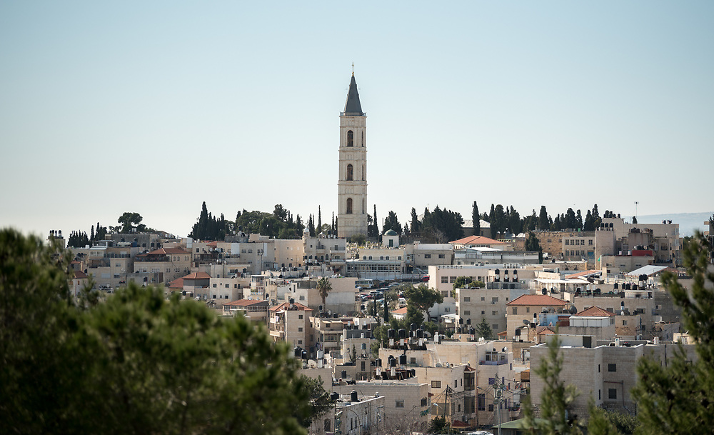 28 February 2020, Jerusalem: Church of the Ascension, seen from the Mount of Olives.
