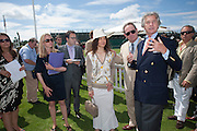 DAWN JONES; TOMMY LEE JONES; ARNAUD BAMBERGER<br /> Cartier International Polo. Guards Polo Club. Windsor Great Park. 25 July 2010. -DO NOT ARCHIVE-© Copyright Photograph by Dafydd Jones. 248 Clapham Rd. London SW9 0PZ. Tel 0207 820 0771. www.dafjones.com.