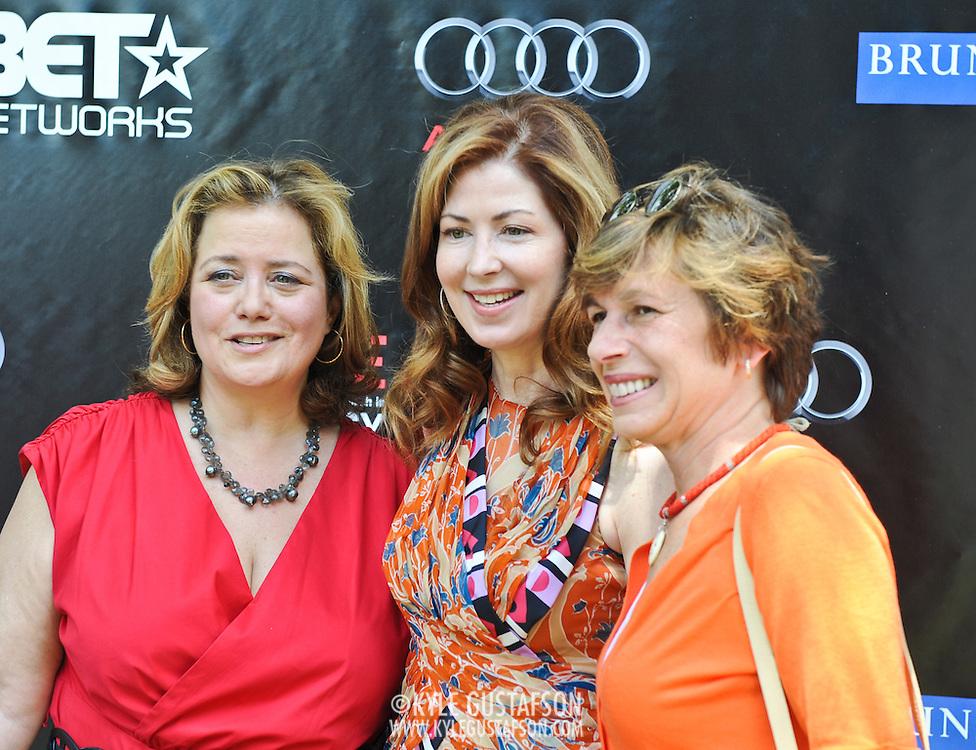 Hillary Rosen, Dana Delaney and Randi Weingarten