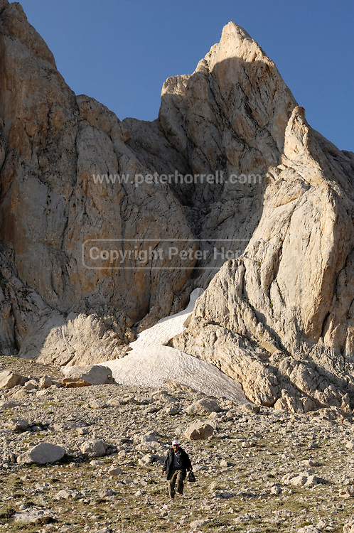 Turkey July 21 2011: Searching for Caspian snowcocks near the chromium mine in the Aladag mountain area near Çukurbag.  Copyright 2011 Peter Horrell