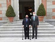 041921 King Felipe VI attends a meeting with Alejandro Giammattei Falla
