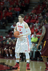 11 January 2014:  Nick Zeisloft during an NCAA  mens basketball game between the Ramblers of Loyola University and the Illinois State Redbirds  in Redbird Arena, Normal IL.  Redbirds win 59-50