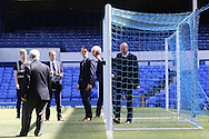Referee Lee Mason checks 'hawkeye' is working prior to kick off. Barclays Premier League match, Everton v Norwich City at Goodison Park in Liverpool on Sunday 15th May 2016.<br /> pic by Chris Stading, Andrew Orchard sports photography.