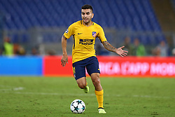 September 12, 2017 - Rome, Italy - Angel Correa of Atletico  during the UEFA Champions League Group C football match between AS Roma and Atletico Madrid on September 12, 2017 at the Olympic stadium in Rome. (Credit Image: © Matteo Ciambelli/NurPhoto via ZUMA Press)