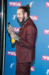 August 21, 2018 - New York City, New York, USA - 8/20/18.Post Malone at the 2018 MTV Video Music Awards at Radio City Music Hall in New York City. (Credit Image: © Starmax/Newscom via ZUMA Press)