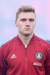 October 28, 2018 - Toronto, ON, U.S. - TORONTO, ON - OCTOBER 28: Julian Gressel (24) of Atlanta United FC stands for the national anthems before the MLS Decision Day match between Toronto FC and Atlanta United FC on October 28, 2018, at BMO Field in Toronto, ON, Canada. (Photograph by Julian Avram/Icon Sportswire) (Credit Image: © Julian Avram/Icon SMI via ZUMA Press)