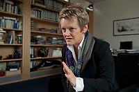 12 OCT 2010, BERLIN/GERMANY:<br /> Renate Kuenast, B90/Gruene, Fraktionsvorsitzende, waehrend einem Interview, in ihrem Buero, Jakob-Kaiser-Haus, Deutscher Bundestag<br /> IMAGE: 20101012-01-005<br /> KEYWORDS: Renate Künast