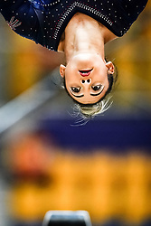 October 28, 2018 - Doha, Quatar - Elissa Downie of  Great Britain   during  Balance Beam qualification at the Aspire Dome in Doha, Qatar, Artistic FIG Gymnastics World Championships on 28 of October 2018. (Credit Image: © Ulrik Pedersen/NurPhoto via ZUMA Press)