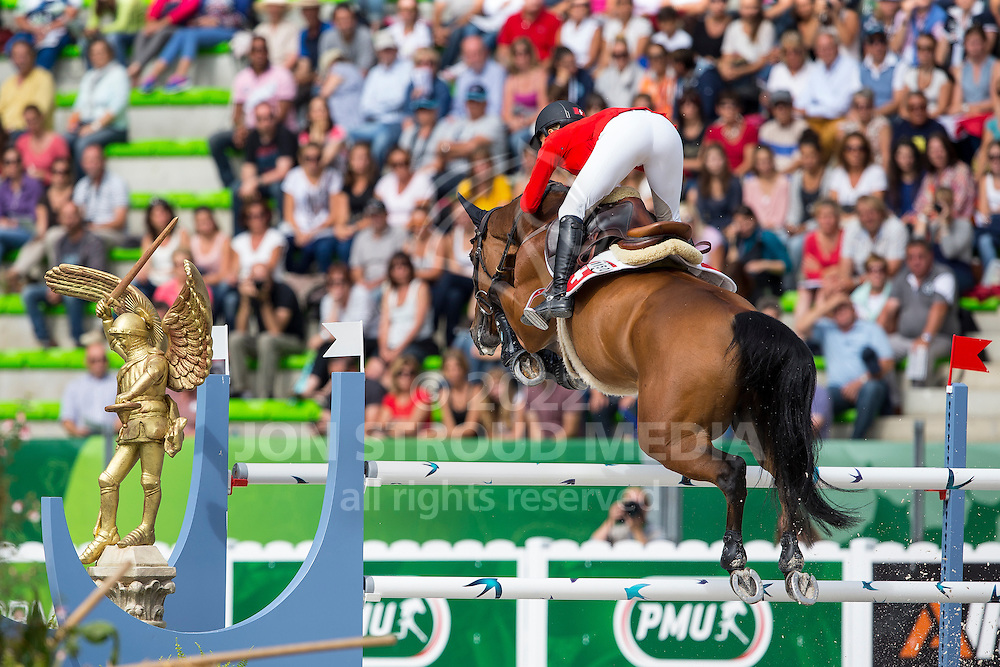 Jane Richard Philips, (SUI), Pablo De Virton - Team & Individual Competition Jumping Speed - Alltech FEI World Equestrian Games™ 2014 - Normandy, France.<br /> © Hippo Foto Team - Leanjo De Koster<br /> 02-09-14