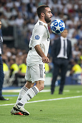 September 19, 2018 - Madrid, Spain - Real Madrid Dani Carvajal during UEFA Champions League match between Real Madrid and A.S.Roma at Santiago Bernabeu Stadium in Madrid, Spain. September 19, 2018. (Credit Image: © Coolmedia/NurPhoto/ZUMA Press)