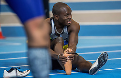 11-02-2017 NED: AA Drink NK Indoor, Apeldoorn<br /> Salomon Bockarie na de 60 meter