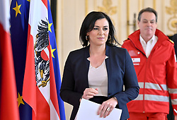 21.03.2020, Wien, AUT, Coronaviruskrise, Österreich, Pressekonferenz, Aktuelles zum Zivildienst, im Bild Zivildienstministerin Elisabeth Köstinger (L/ÖVP) und Rotes Kreuz-Generalsekretär Michael Opriesnig // during a press conference about the Coronavirus Pandemie in Wien, Austria on 2020/03/21. EXPA Pictures © 2020, PhotoCredit: EXPA/ Herbert Neubauer/APA-POOL