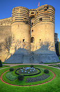 Château d'Angers is a castle in the city of Angers in the Loire Valley, in the département of Maine-et-Loire, in France. Founded in the 9th century by the Counts of Anjou, was expanded to its current size in the 13th century. It is located on a rocky ridge overhanging the river Maine.