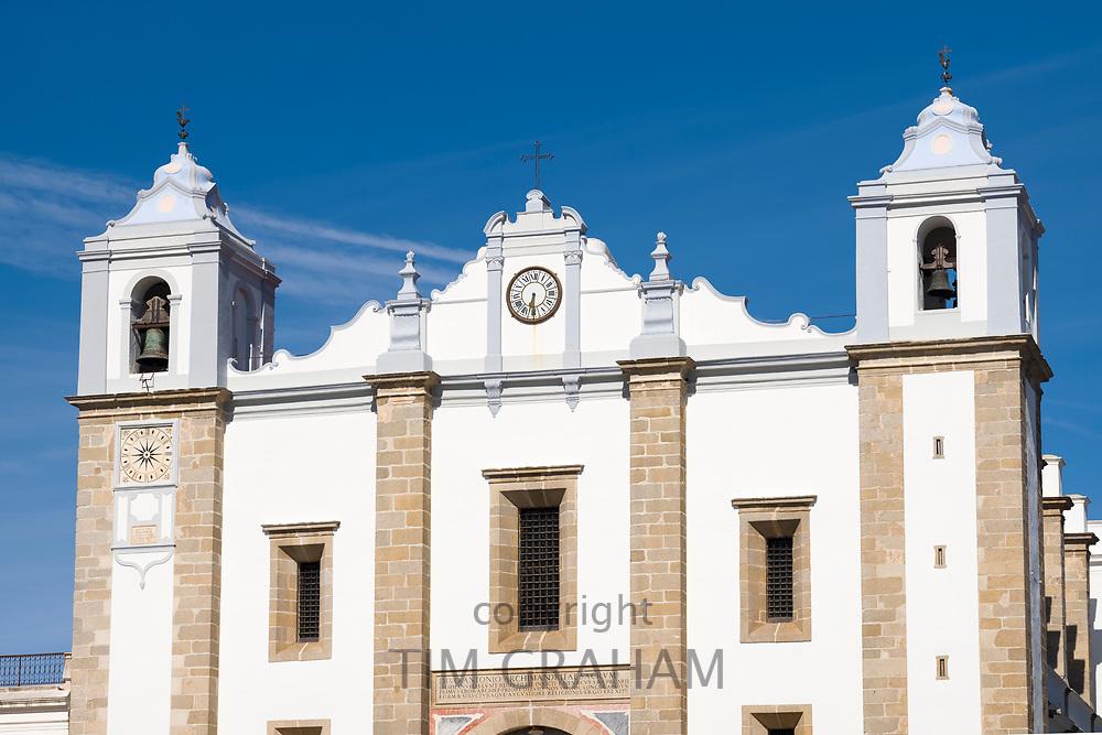 Church of Saint Antao - Igreja de Santo Antao - in Giraldo Square - Praca do Giraldo - Evora, Portugal
