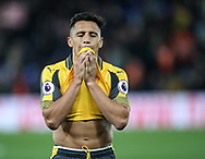 Arsenal's Alexis Sanchez looks on dejected at the final whisle during the Premier League match at Selhurst Park Stadium, London. Picture date: April 10th, 2017. Pic credit should read: David Klein/Sportimage
