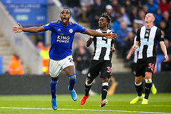 Ricardo Pereira of Leicester City celebrates scoring a goal to make it 1-0 - Mandatory by-line: Robbie Stephenson/JMP - 29/09/2019 - FOOTBALL - King Power Stadium - Leicester, England - Leicester City v Newcastle United - Premier League