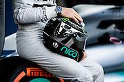 Circuito de Jerez, Spain : Formula One Pre-season Testing 2014. Nico Rosberg  (GER) presents the new Mercedes Petronas Formula 1 car.