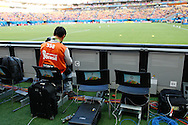 My slot for the day - seat 7, for the 2014 FIFA World Cup match at Arena da Amazonia, Manaus<br /> Picture by Andrew Tobin/Focus Images Ltd +44 7710 761829<br /> 14/06/2014