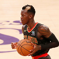 07 January 2018: Atlanta Hawks guard Dennis Schroder (17) brings the ball up court during the LA Lakers 132-113 victory over the Atlanta Hawks, at the Staples Center, Los Angeles, California, USA.