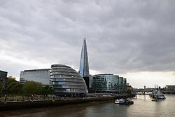 London skyline, April 2019 UK. GLA building & The Shard
