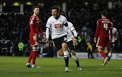 George Thorne of Derby County celebrates scoring his sides first goal - Mandatory byline: Jack Phillips / JMP - 07966386802 - 21/11/2015 - FOOTBALL - The iPro Stadium - Derby, Derbyshire - Derby County v Cardiff City - Sky Bet Championship