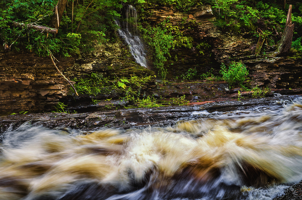 Presque Isle River in Porcupine Mountains wilderness State Park.