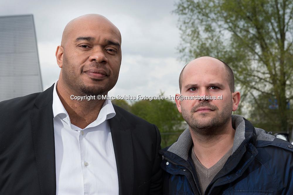 Nederland,  Den Bosch, De Ondernemer,rubriek Teamwork, beveiliger Melvin Reingoud met compagnon van Profisec