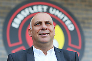 New Ebbsfleet United manager Garry Hill  during the The FA Cup 1st round match between Ebbsfleet and Cheltenham Town at Stonebridge Road, Ebsfleet, United Kingdom on 10 November 2018.