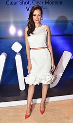 September 11, 2017 - Mumbai, Maharashtra, India - Indian film Actress Evelyn Sharma unveiled the Vivo V7 Plus mobile phone at Sahara star hotel in Mumbai. (Credit Image: © Azhar Khan/Pacific Press via ZUMA Wire)
