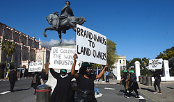 South Africa -Cape Town - 27 August 2020 - Disgruntled women in the wine industry protesting outside parliament today to demand an intervention from the Department of Agriculture, Land Reform and Rural Development to save their industry.Picture:Phando Jikelo/African News Agency(ANA)