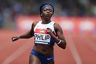 Asha Phillip competing in the Women's 100m Semi-Final race. The British Championships 2016, athletics event at the Alexander Stadium in Birmingham, Midlands  on Saturday 25th June 2016.<br /> pic by John Patrick Fletcher, Andrew Orchard sports photography.