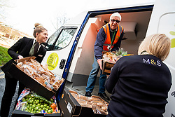 M&S has launched a new colleague app to revolutionise how it donates surplus food from stores to local charities. The new system aims to considerably increase the amount of surplus meals being locally redistributed to those in need, via the store's charity partners.<br /> <br /> 13 February 2020<br /> <br /> www.pauldaviddrabble.co.uk<br /> All Images Copyright Paul David Drabble - <br /> All rights Reserved - <br /> Moral Rights Asserted -