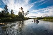 Rafting last day on the lower Kisaralik River, Alaska