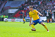Ben Purrington of Charlton Athletic (16) in action during the EFL Sky Bet League 1 play off first leg match between Doncaster Rovers and Charlton Athletic at the Keepmoat Stadium, Doncaster, England on 12 May 2019.