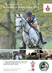 © Licensed to London News Pictures. 30/04/2012. BADMINTON, UNITED KINGDOM. Collect of the poster for the 2012 Mitsubishi Motors Badminton Horse Trials which was cancelled this morning due to poor ground conditions. The event, which was a key qualifier for the 2012 London Olympic Games, has been called off because of large areas of standing surface water and worries about the going of the Cross Country track. Photo credit: Mark Chappell/LNP