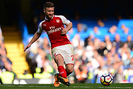 Shkodran Mustafi of Arsenal in action. Premier league match, Chelsea v Arsenal at Stamford Bridge in London on Sunday 17th September 2017.<br /> pic by Andrew Orchard sports photography.