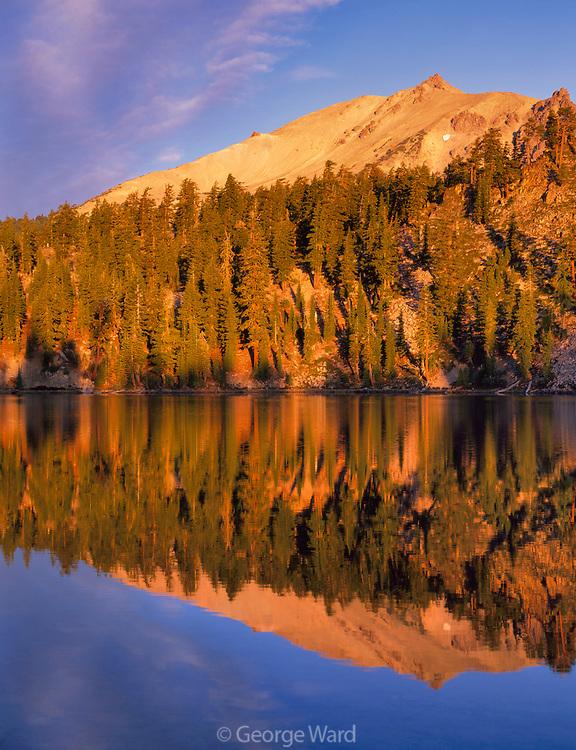 Terrace Lake and Lassen Peak, Lassen Volcanic National Park, California