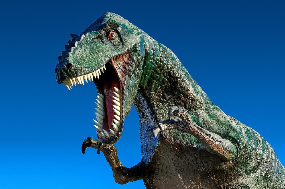 Replica of a dinosaur.