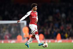 Reiss Nelson of Arsenal in possession - Mandatory by-line: Patrick Khachfe/JMP - 14/09/2017 - FOOTBALL - Emirates Stadium - London, England - Arsenal v Cologne - UEFA Europa League Group stage