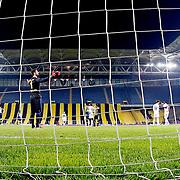 Fenerbahce's goalkeeper Volkan Demirel during their Turkish superleague soccer derby Fenerbahce between Besiktas at the Sukru Saracaoglu stadium in Istanbul Turkey on Sunday 22 March 2015. Photo by Aykut AKICI/TURKPIX