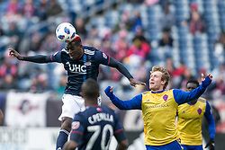 March 10, 2018 - Foxborough, Massachusetts, USA - Foxborough, Massachusetts - March 10, 2018:  The New England Revolution (blue/white) beat Colorado Rapids (yellow/blue) 2-1 in a Major League Soccer (MLS) match at Gillette Stadium. (Credit Image: © Tim Bouwer/ISIPhotos via ZUMA Wire)